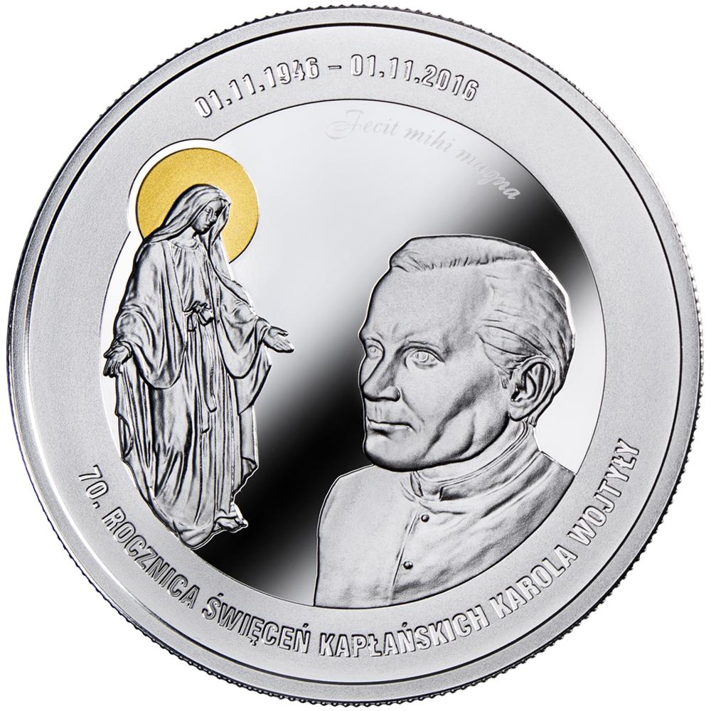 Karol Wojtyła - 70. rocznica święceń kapłańskich, 1000 CFA