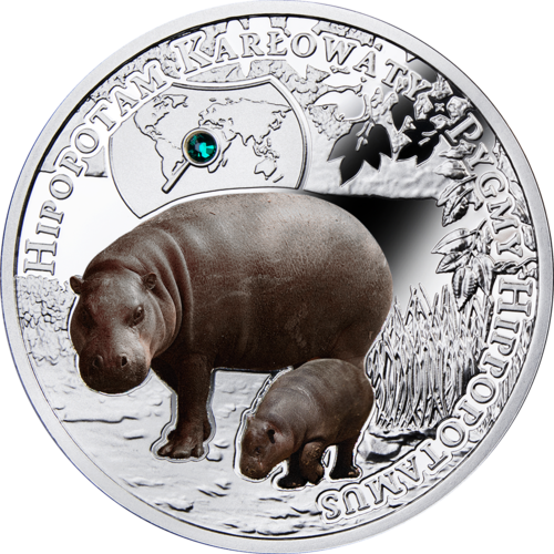 Pygmy Hippopotamus, 1 dollar, Series: SOS to the World – Endangered Animal Species