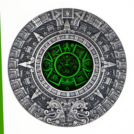 Kalendarz Azteków, 2 dolary