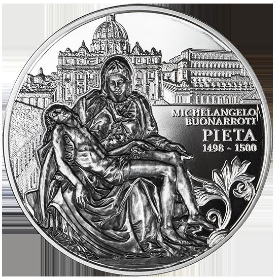 Pieta, 5 dolarów, Seria: Arcydzieła sztuki rzeźbiarskiej