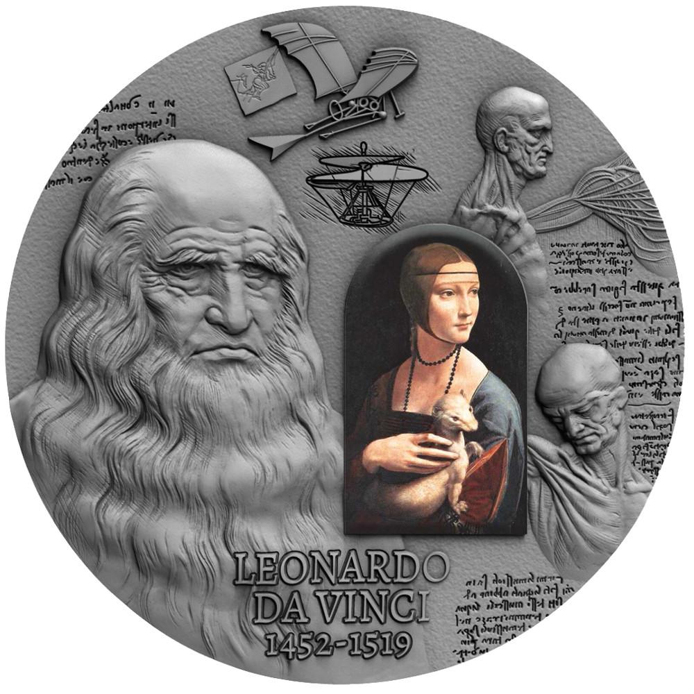 500. Rocznica śmierci Leonarda Da Vinci, 2000 franków CFA