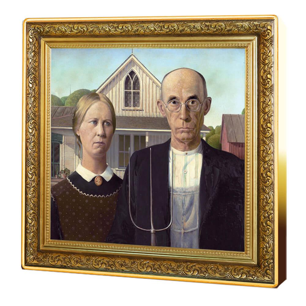American Gothic, 1 dolar, Seria: Skarby światowego malarstwa