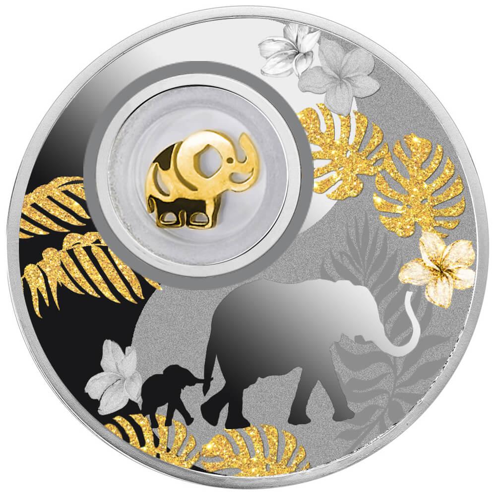 Słonik, 500 franków CFA, Seria: Lucky Coins