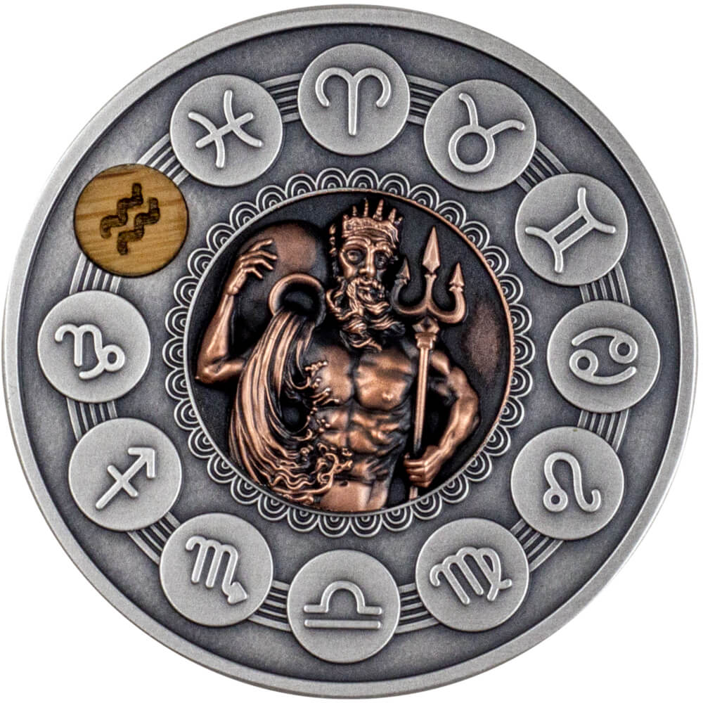 Wodnik, 1 dolar, Seria: Znaki Zodiaku