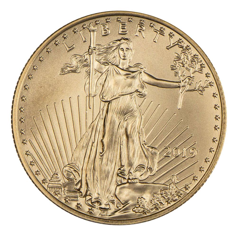 Amerykański Orzeł 1/2 oz 25 USD - Złota moneta bulionowa American Gold Eagle