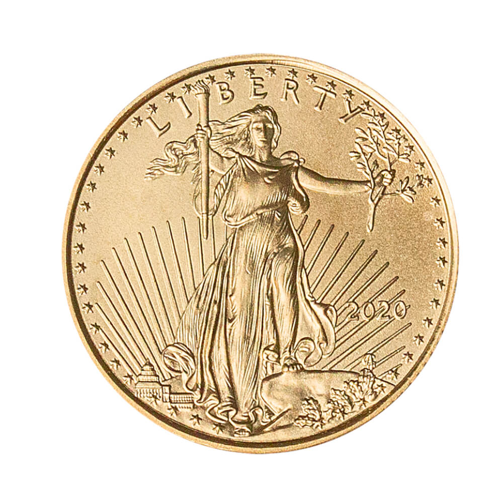 Amerykański Orzeł 1/4 oz 10 USD - Złota moneta bulionowa American Gold Eagle