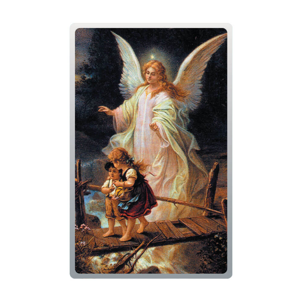 Anioł stróż, srebrny numizmat