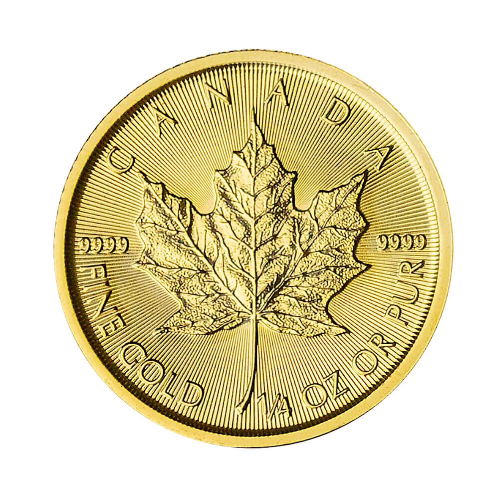 Liść Klonowy 1/4 oz. 10 dolarów kanadyjskich - Złota moneta bulionowa Maple Leaf