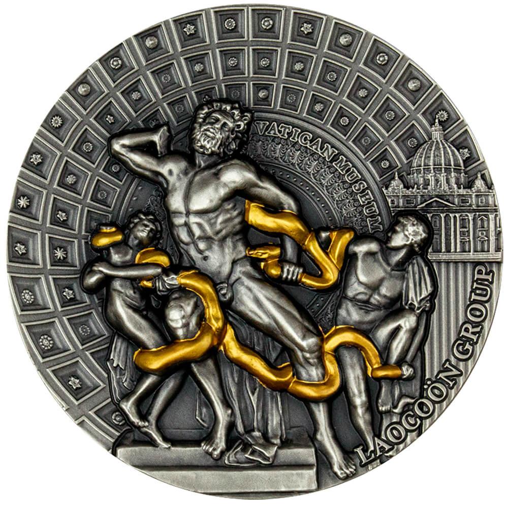 Grupa Laokoona – Arcydzieła sztuki rzeźbiarskiej, 2000 franków CFA