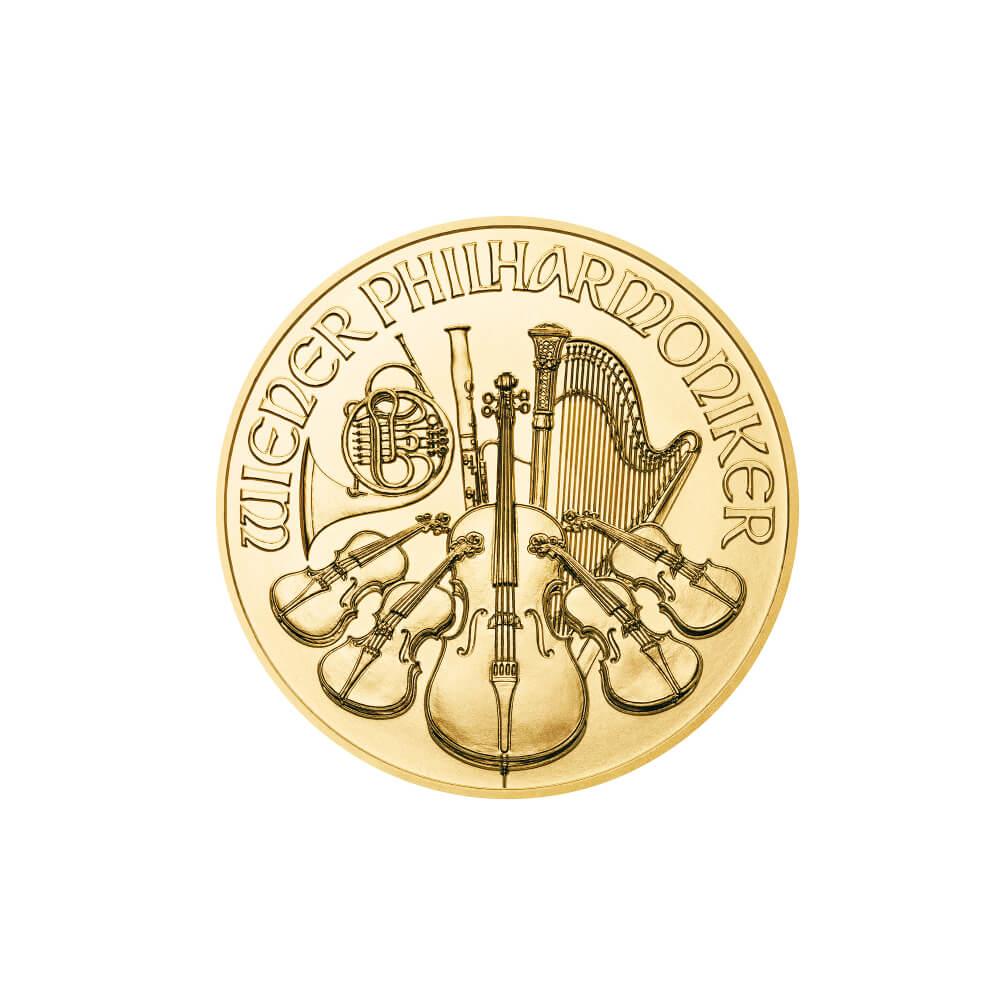 Filharmonicy Wiedeńscy 1/25 oz - Złota moneta bulionowa