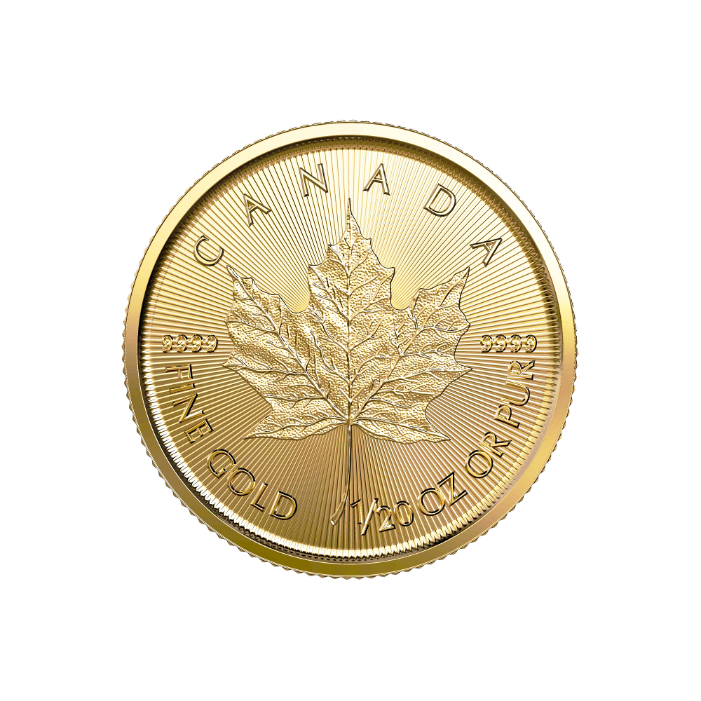 Liść Klonowy 1/20 oz - Złota moneta bulionowa Maple Leaf
