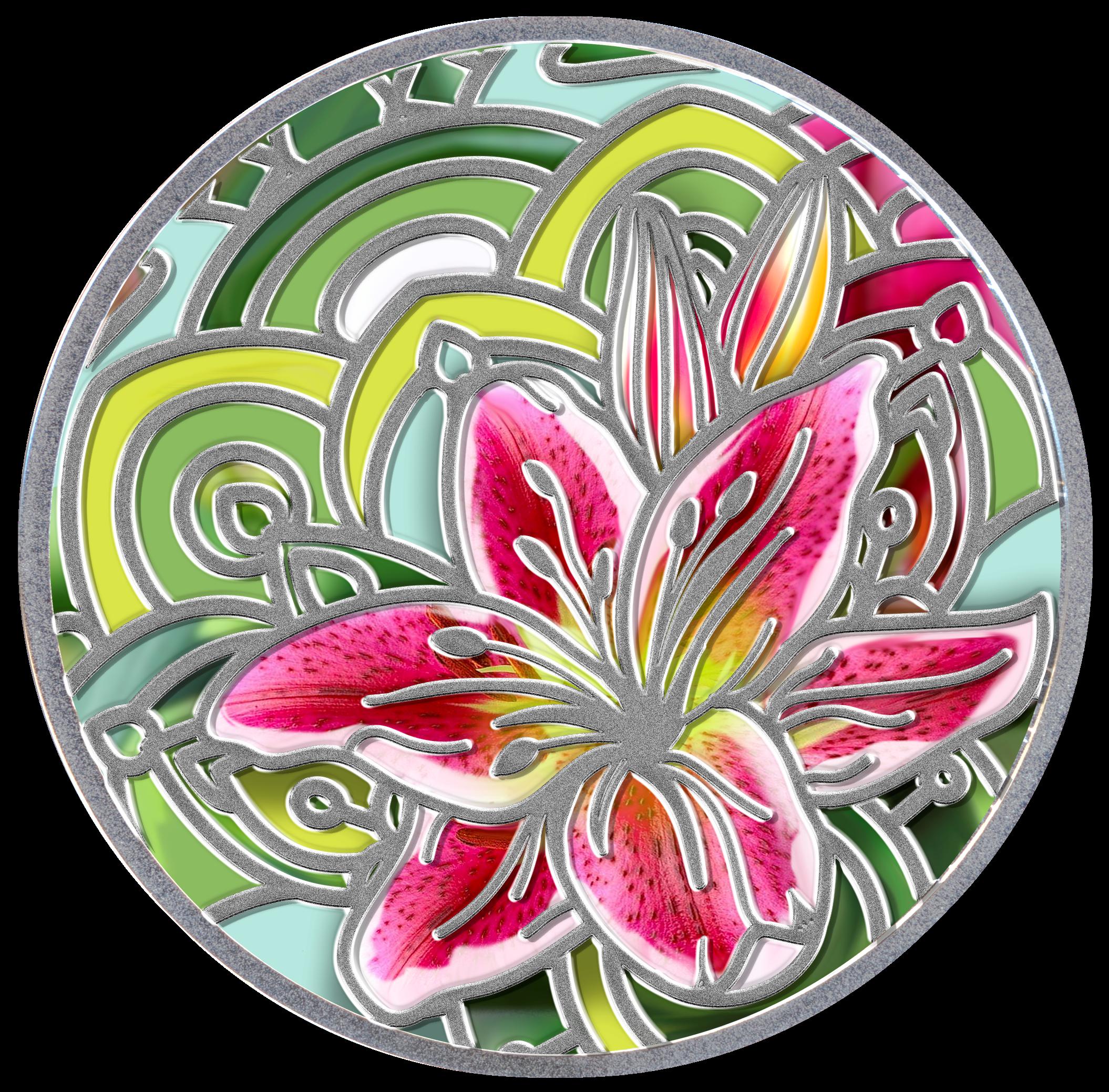 Lilia, 500 franków CFA, Seria: Mowa kwiatów